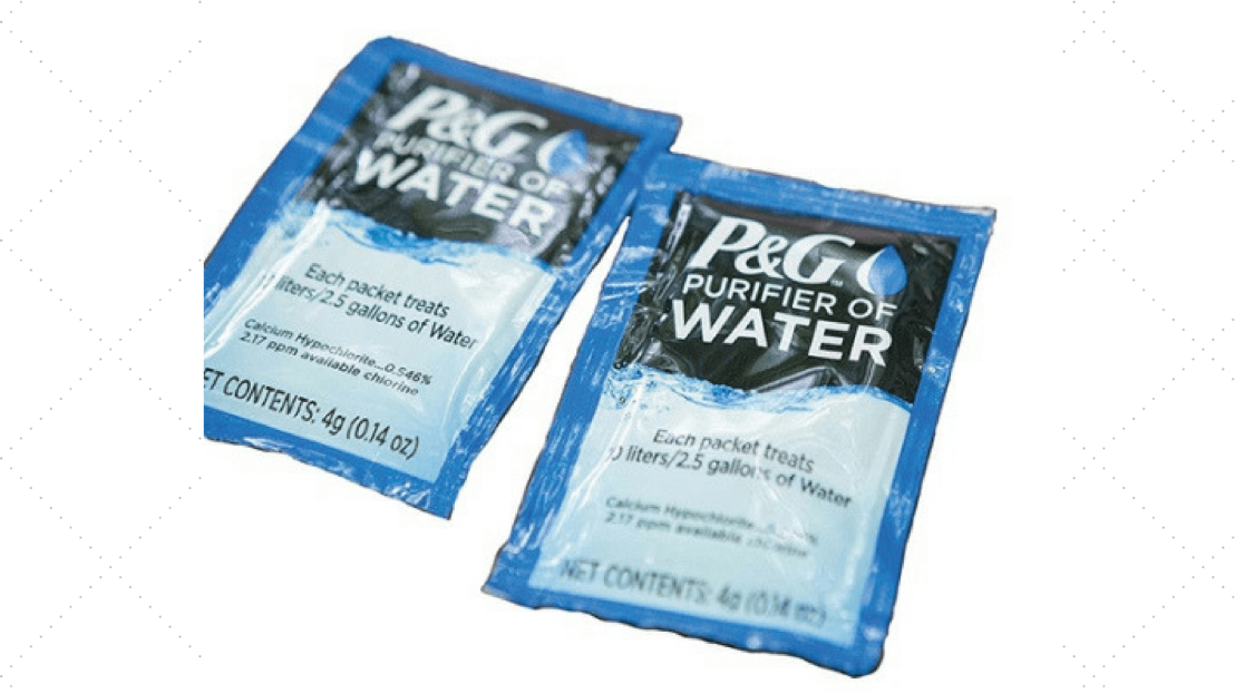 P&G Water Purification Packets Can Come In Handy For Many Situations